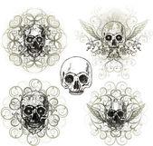 Diseño de cráneo Grunge — Vector de stock