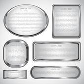 银相框 — 图库矢量图片