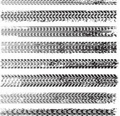 Huellas de neumáticos sucio — Vector de stock