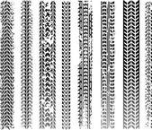 Tracce di pneumatici vettoriale — Vettoriale Stock