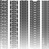 Dirty tire tracks — Stock Vector
