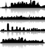 New york city skylines — ストックベクタ