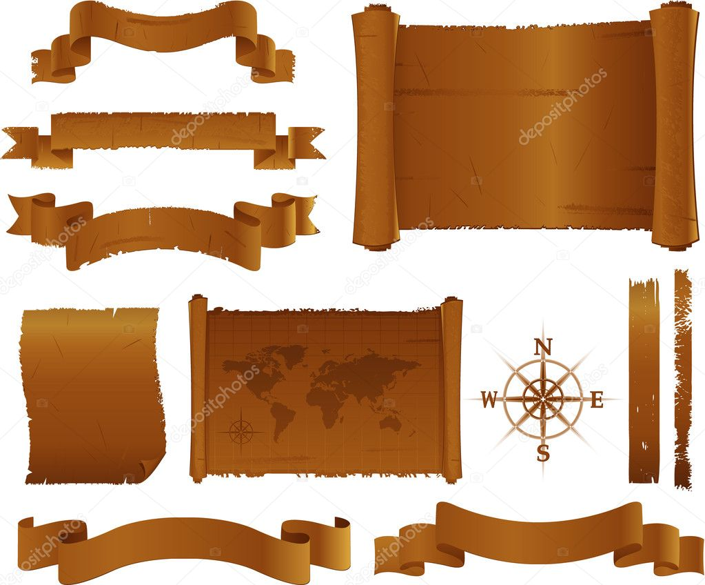 Old parchment and treasure map — Stock Vector #6059010