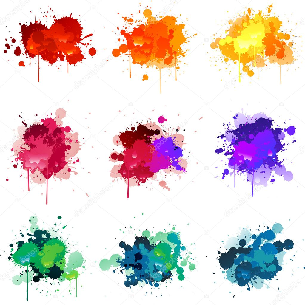 Paint splat  Stock Vector #6059161