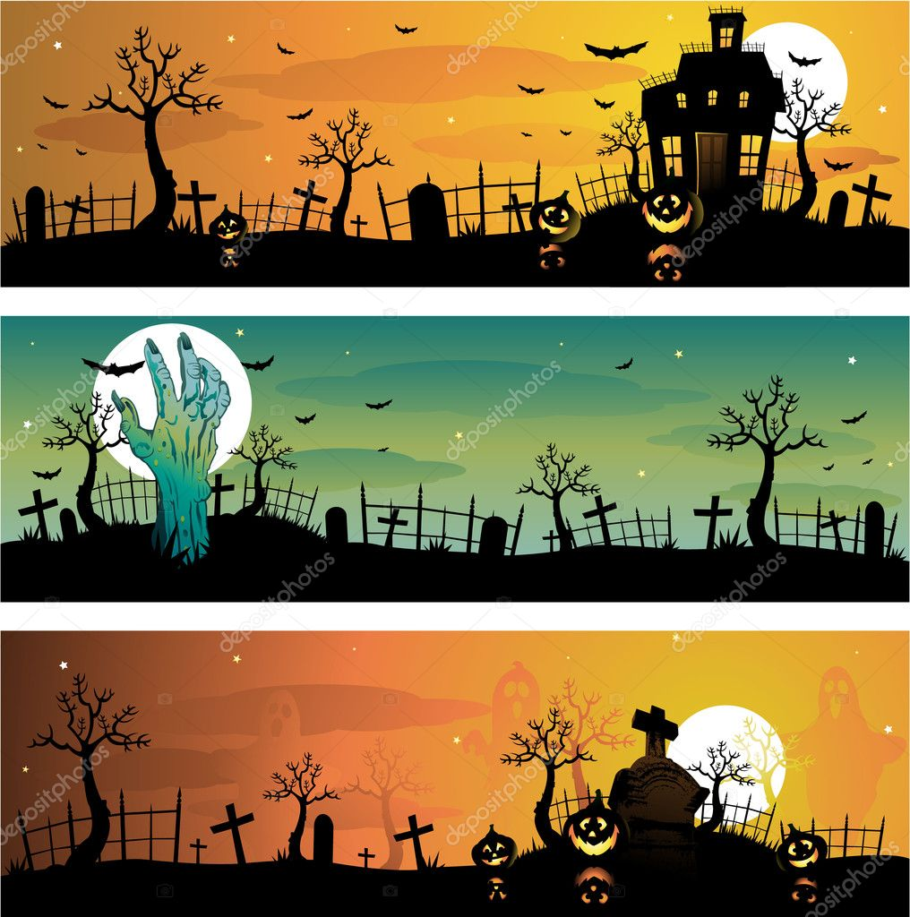 Creepy Halloween background illustration — Imagen vectorial #6059231