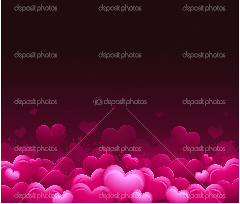 Heart background love — Stock Vector #6059388