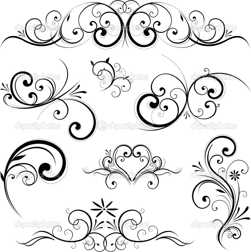 Vector scroll ornament - Stock Illustration