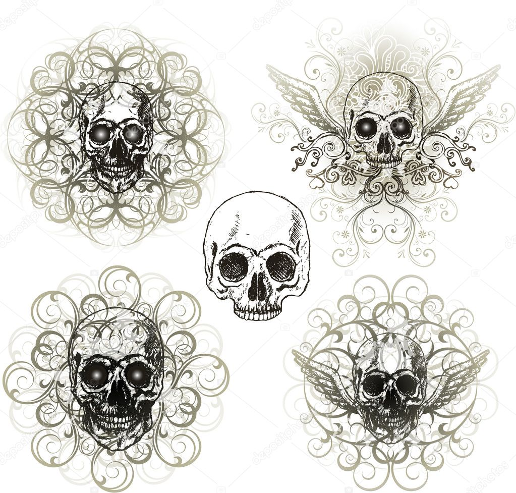 Grunge skull design  Stock Vector #6059474