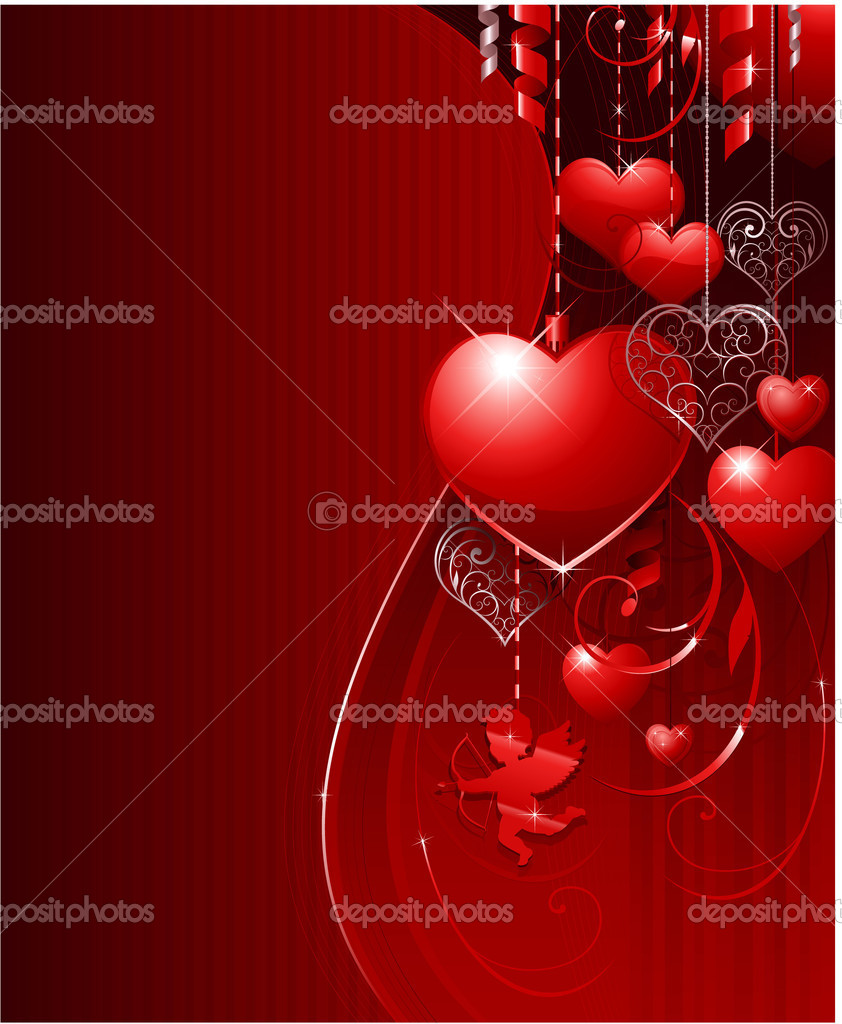 Valentine's day background for wedding or greeting card — Imagen vectorial #6059504
