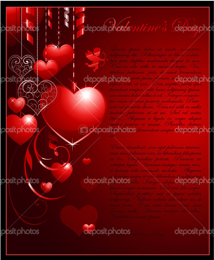 Valentines day background for wedding or greeting card — Stock Vector #6059603