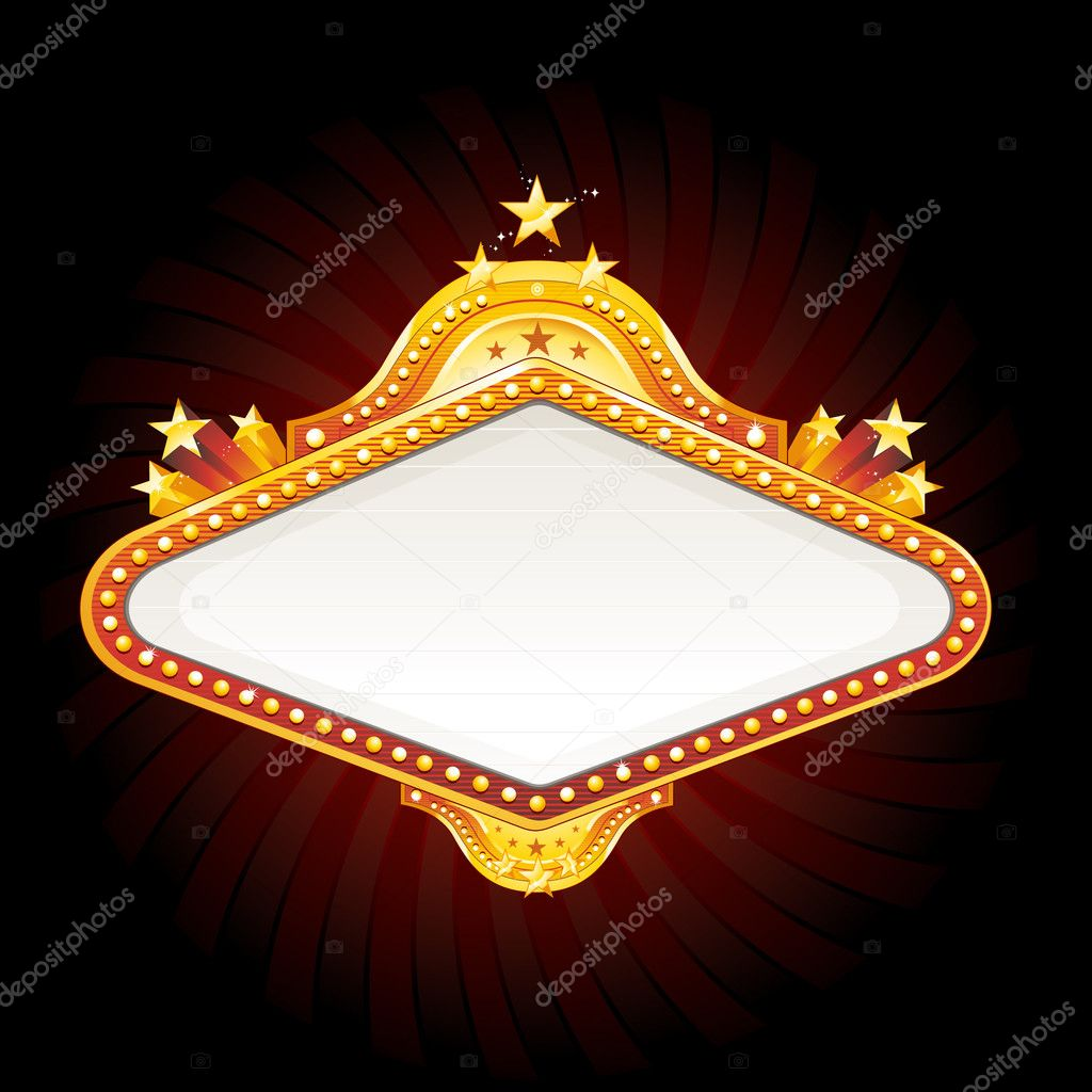 Vector golden casino sign — Stock Vector #6059612