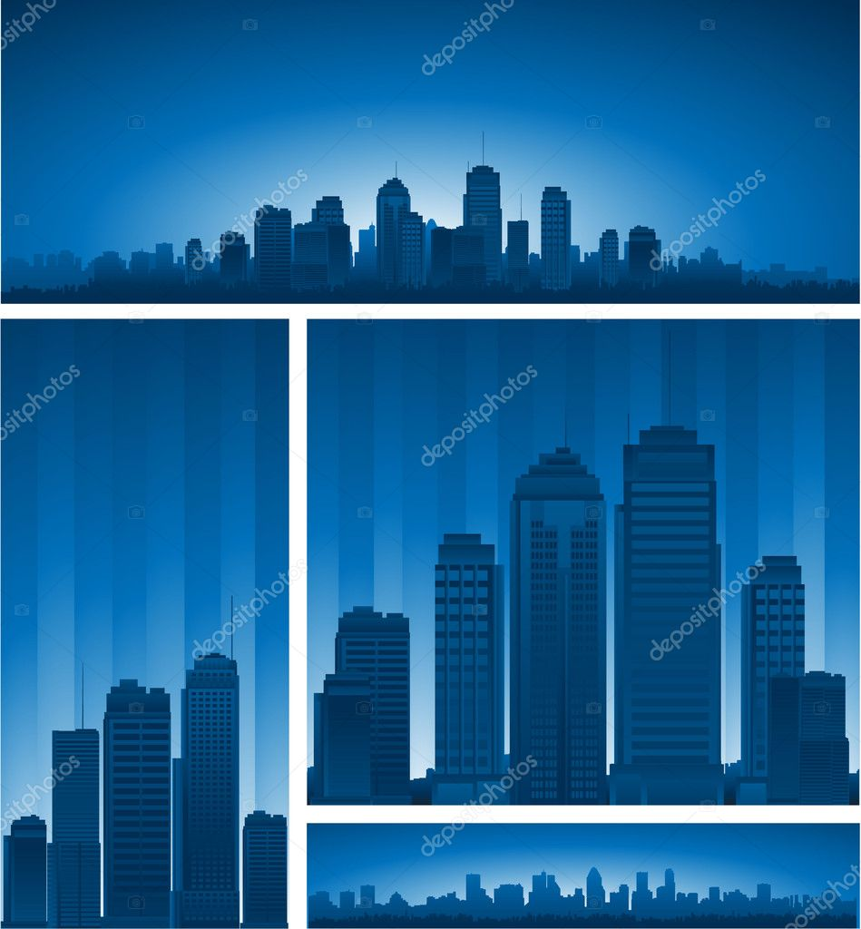 Cartoon city background  Stock Vector #6059613