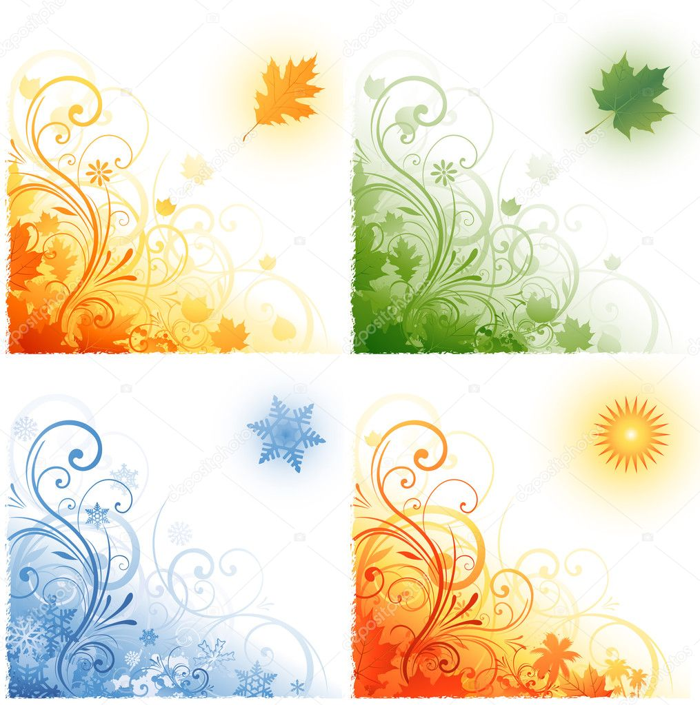 Abstract four season design  Stock Vector #6059646