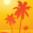 Royalty-Free Stock Vector Image: Tropical background