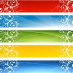 sezónní dekorativní banner design — Stock vektor