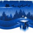 Stock Vector: Blue Christmas headers