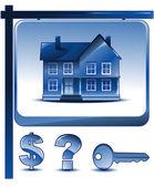 Real estate home design — Stock Vector