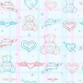 Seamless baby pattern — Stock Vector