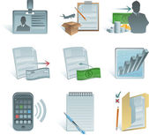 Vector accounting icons — Stock Vector