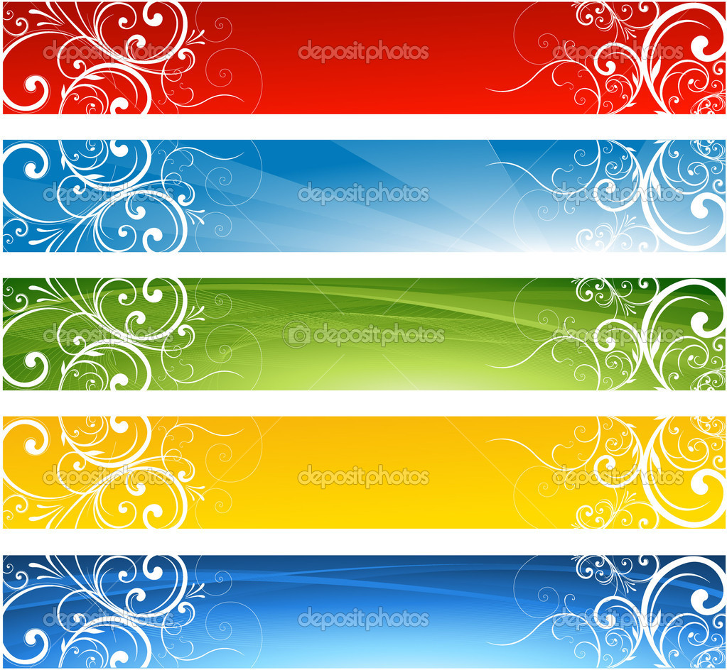Seasonal decorative banner design stock illustration