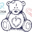 Teddy bear illustration — Vector de stock #6433872
