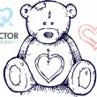 Vettoriale Stock : Teddy bear illustration