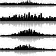 City skylines background - Image vectorielle