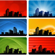 City skylines background — Stock Vector
