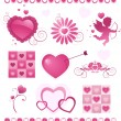Valentine's day items - Stock Vector