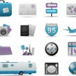 Royalty-Free Stock Vector Image: Travel icons symbol collection