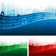 Abstract music background — Stock Vector #6435136
