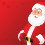 Santa claus background — Stock Vector