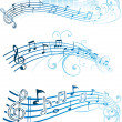Abstract music note design — Image vectorielle