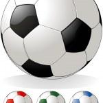 Soccer emblem — Stock Vector