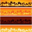 Stock Vector: Tropical background