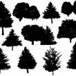 Royalty-Free Stock Vector Image: Tree silhouettes