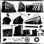 Grunge city building — Stock Vector #6435709