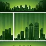 City skylines background — Stock Vector