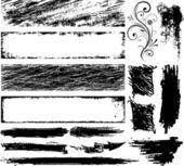 Varios vector de marco grunge — Vector de stock