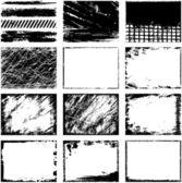 各种 grunge 帧矢量 — 图库矢量图片