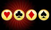 Casino arka plan — Stok Vektör