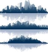 Miasto sylwetki na tle nieba tło — Wektor stockowy
