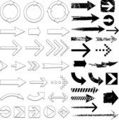 Blue arrow design collection — Stock Vector