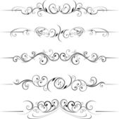 Swirling flourishes decorative — Vettoriale Stock