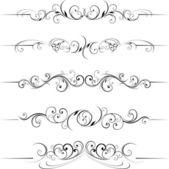 Vorticosi ornamenti decorativi — Vettoriale Stock