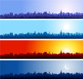 City skylines background — Stok Vektör