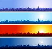 Fondo ciudad skylines — Vector de stock