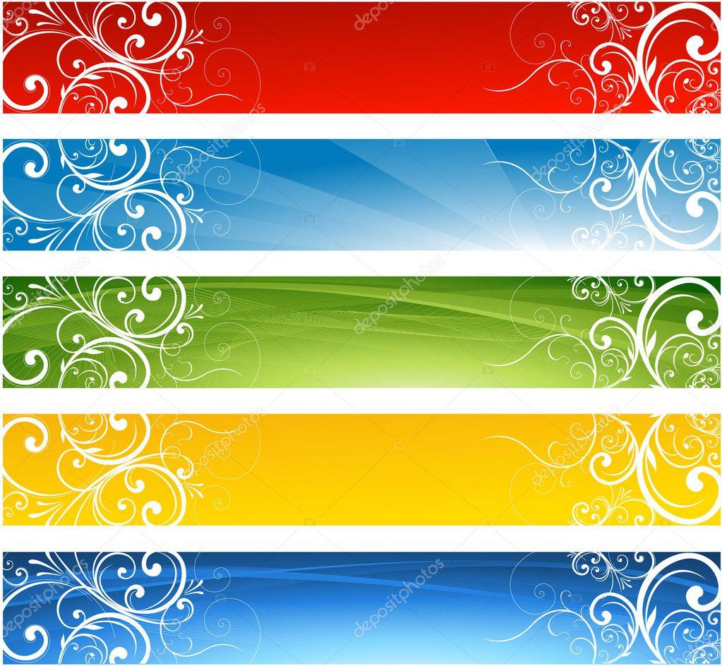 seasonal decorative banner design stock vector hugolacasse