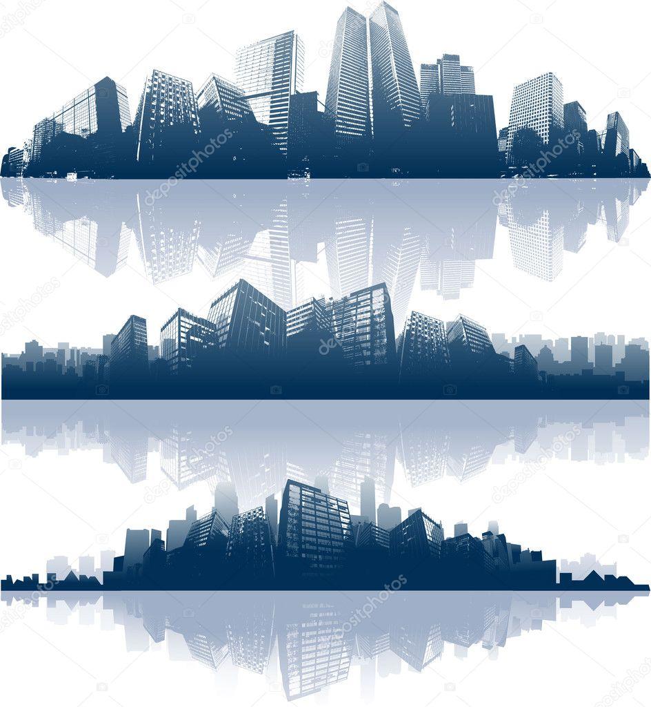 城市天际线背景