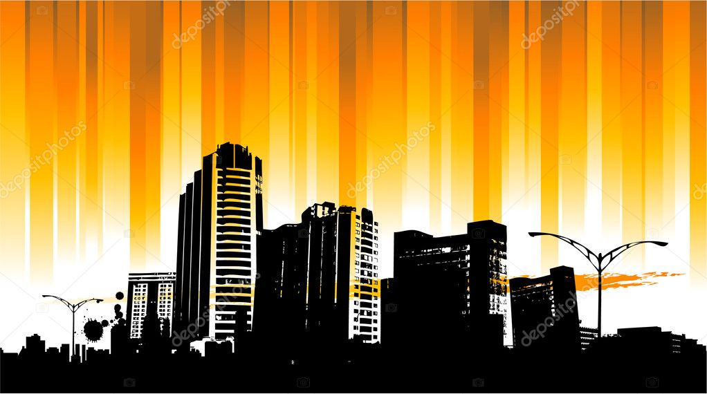 city skylines background � stock vector 169 hugolacasse 6435201